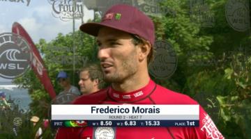 Frederico Morais na entrevista de vencedor na Ronda 2 do Vans World Cup (®screenshot)
