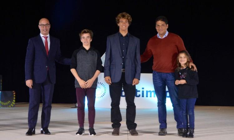 Iate Clube Marina de Portimão: Diogo Pereira, Isaac Felizardo e o treinador Bruno Freitas (®PauloMarcelino)