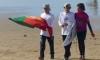 Espírito de equipa forte entre os portugueses, como se vê aqui no apoio a Guilherme Ribeiro (®FPS)
