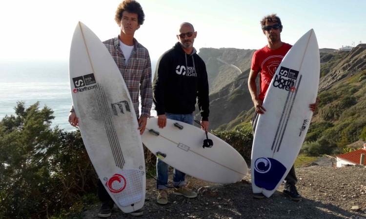 Atamay Batista, à esquerda, Nuno Viegas, ao centro, e Moreno Lelis, à direita (®Northcore)