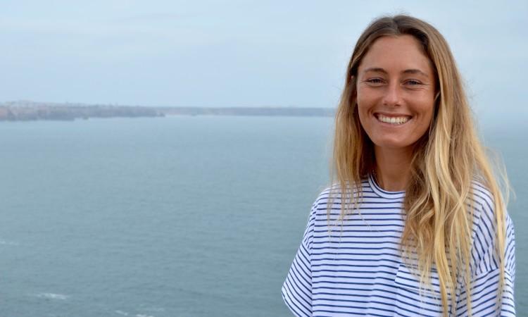 Joana Schenker: Tricampeã Nacional de Bodyboard Feminino, Tricampeã Europeia BB Feminino (feito inédito) e Top 4 Mundial BB Feminino. É a rainha do desporto de mar no Algarve (®PauloMarcelino)