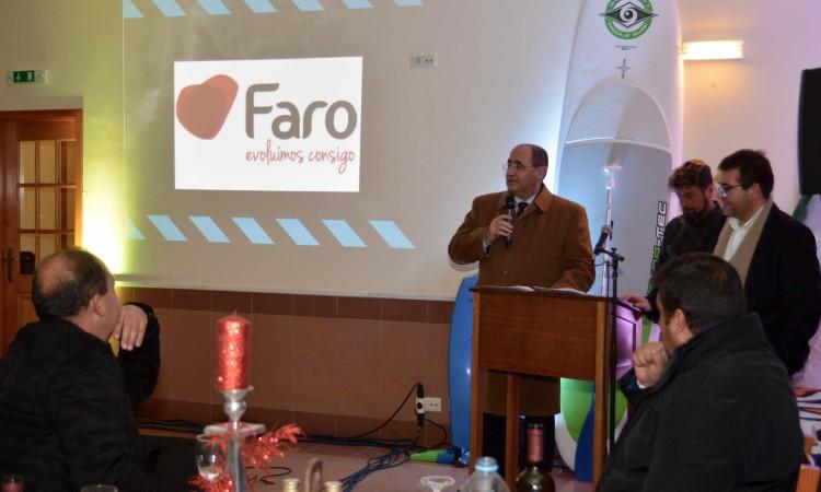 Rogério Bacalhau, presidente da Câmara de Faro, prometeu continuar a apoiar o clube (®PauloMarcelino)