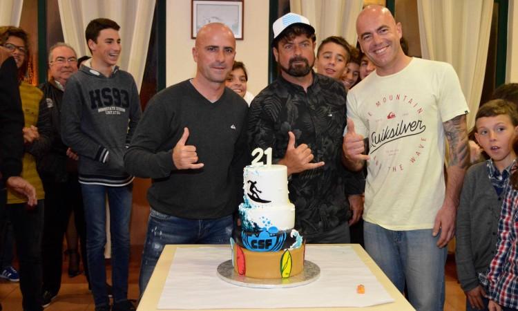 Rodolfo 'Didi' Oliveira, Manuel 'Necas' Mestre e Nuno Laboia, os dirigentes do Clube de Surf de Faro (®PauloMarcelino)
