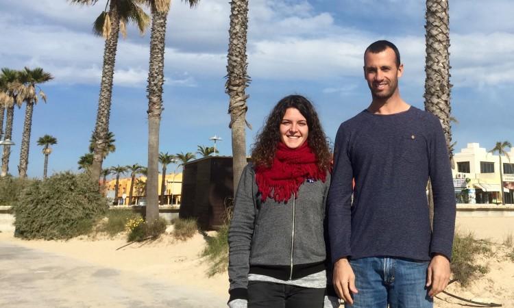Margarida Gil Morais e Miguel Martinho vão experimentar a classe RS:X. São os melhores nacionais, feminino e masculino, de Formula Windsurfing (®PauloMarcelino)