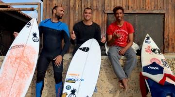 Ivo Santos, Ian Costa e Moreno Lelis, três dos protagonistas do video (®PauloMarcelino)