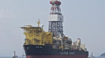 Saipem 12000 é a unidade flutuante de perfuração contratada pela Galp/Eni, para furar o solo marinho português (®DR)