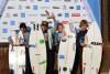Algarvio João Mendonça ergue o prémio de vencedor no pódio Sub-14 da etapa na Grande Lisboa (®SCP)