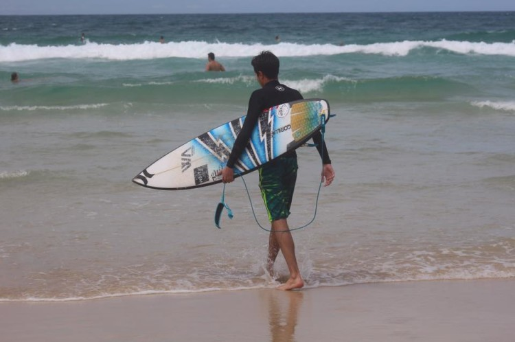 Francisco Duarte foi chegou à Gold Coast, na semana passada, com a Academia Profissional de Surf e tem estado a surfar em Snapper Rocks (®FranciscoDuarte/APS)
