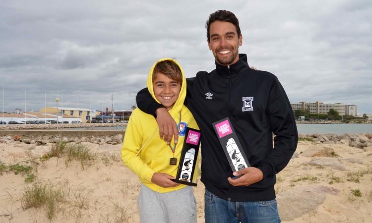Paulo Almeida conquistou a primeira vitória regional e  o atleta por si treinado Henrique Gomes também venceu, em Sub-12 (®PauloMarcelino)