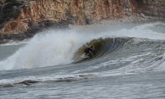 Algures na Costa Sul | (13-17)-02-2017 | Surfista inglês (®MassimoPardini/AlgarveSurfPhoto)