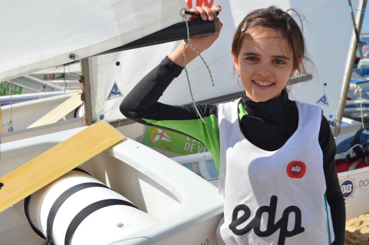 Julia Rodriguez conquistou o apuramento na última prova. Foi ela a atleta mais feliz em Vila Real de Santo António, a sua 'casa' (®PauloMarcelino/arquivo2015)
