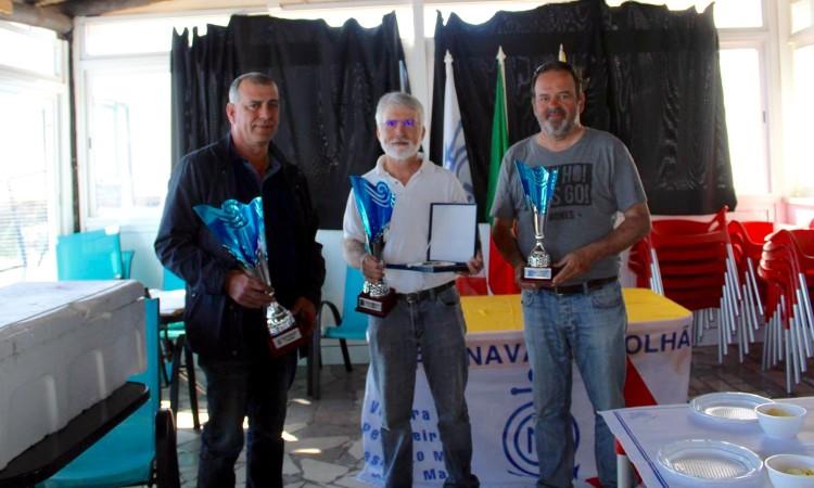 Pódio Campeonato Nacional IOM 2017, em Olhão, organizado por Grupo Naval de Olhão e Associação Portuguesa de Modelos à Vela (®DR)