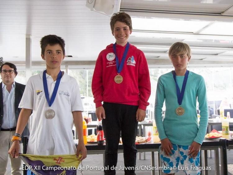 Guilherme Cavaco no 1º lugar do pódio Masculino. Vladislav Bedlinskyy, de verde, no 3º. Em 2º ficou o madeirense Vasco Soares (®LuisFraguas/CNS)
