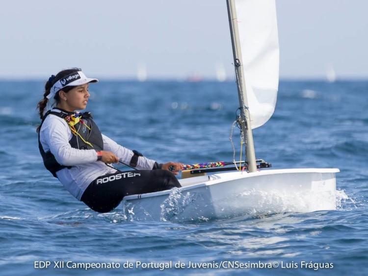 Algarvia Beatriz Gago, Bicampeã de Portugal Juvenis Feminino em título, seguia no 2º posto geral, 1º Feminino ao final do Dia 2 (®LuisFraguas/CNS)