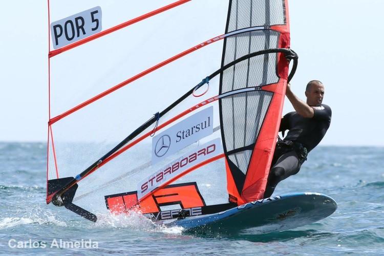 Miguel Martinho em ação em Portimão. Algarvio multicampeão nacional venceu todas as regatas nas etapas FW Series esta época (®CarlosAlmeida)