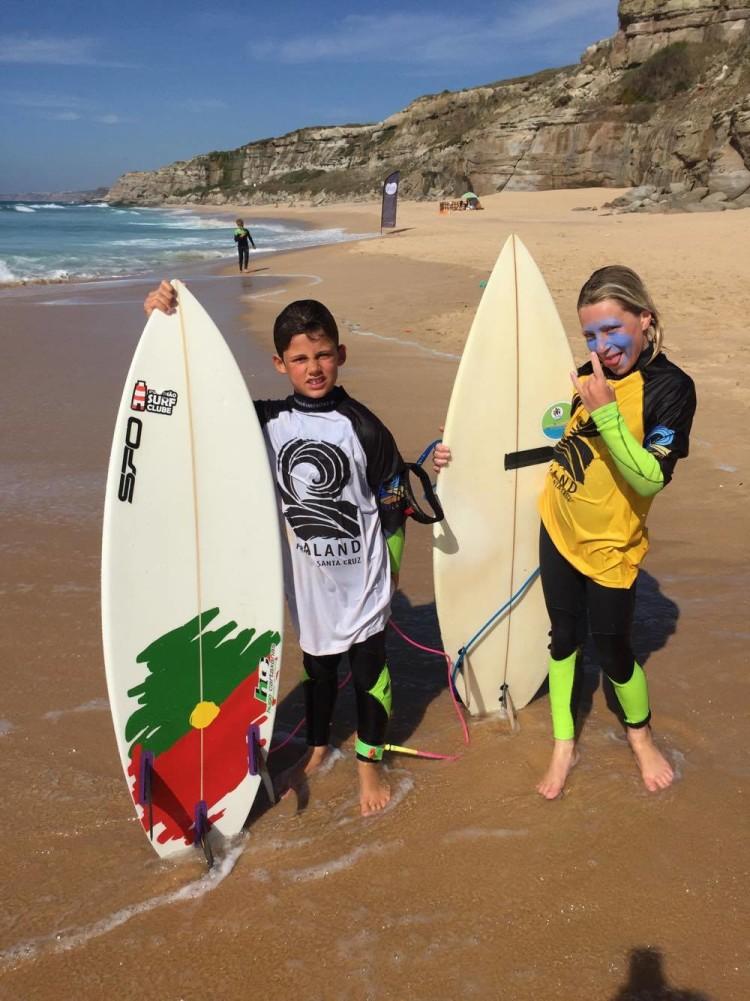 Louis Escudeiro, à esquerda e Olly Heuekles deram nas vistas em Santa Cruz (®PTMSC)