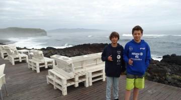 Nuno Baltasar Pinto e Leonardo Quádrio foram finalistas Sub-14 na 2ª Etapa do Circuito Regional de Surf dos Açores 2017 (®DR)