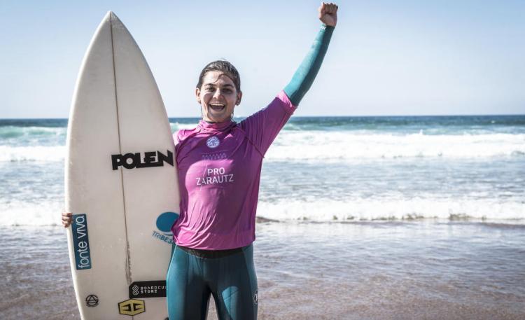 Carol Henrique obteve em Zarautz a sua primeira vitória QS (®WSL/Poullenot/Aquashot)