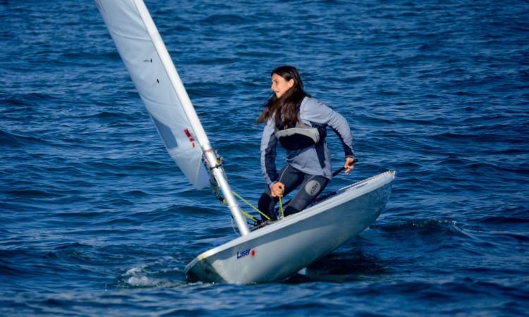Algarvia Daniela Miranda chega a Viana do Castelo como Campeã de Portugal Laser 4.7 Feminino em título (®PauloMarcelino/arquivo/Dez2016)