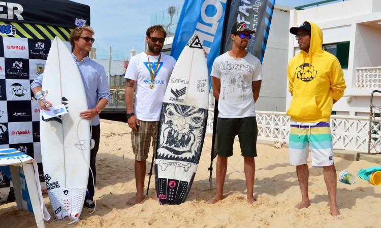 Pódio Open completo: Marlon Lipke (1º), Ivan Bailote (2º) e Paulo Almeida e João Ventura, 3ºs (®PauloMarcelino)