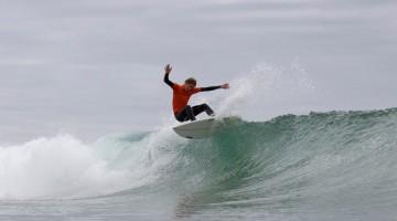 Henrique Poucochinho venceu o encontro nacional o ano passado em Surf Iniciado e vai este ano competir em Surf Juvenil (®BrunoLaranjeira)