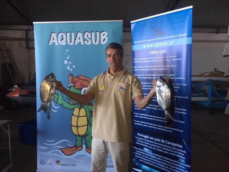 Algarvio Paulo Silva, decano da pesca submarina portuguesa, do Clube de Vela de Lagos (®CNOCA)