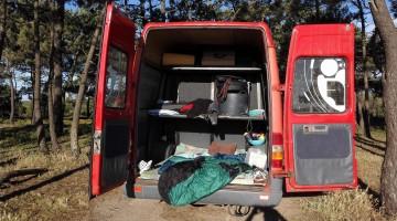 Esta foi a carrinha assaltada, fotografada pouco antes da deslocação para a Mareta (®ManuelMestre)