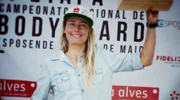 Algarvia Joana Schenker no 1º lugar do pódio nacional feminino em Esposende (®DR)