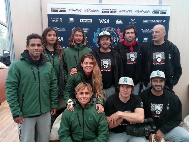 Seleção de Portugal aos ISA World Surfing Games 2017, que começam este sábado, em Biarritz (®FPS)