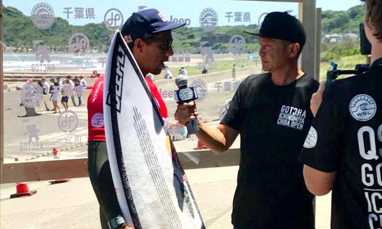 Vasco Ribeiro venceu duas baterias e perdeu na Ronda 3; foi o melhor português no QS 6000 Ichinomiya Chiba Open (®DR)