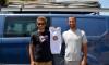 Frederico Rodrigues, à esquerda, e Miguel Martinho em Portimão, de partida para o Europeu de RS:X em Marselha (®PauloMarcelino)
