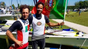 Jorge Lima e o algarvio José Costa, Medalha de Prata em 49er na Delta Lloyd Regatta (®DR)