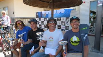 Pódio 1ª Etapa Circuito Nacional de SUP Wave Open 2017, Praia de Faro, 29 abril (®CSF)
