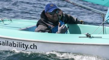 Guilherme Ribeiro em Kiel. Algarvio enfrentou mar forte e um novo formato de regata. Fez 12º no Mundial a uma semana de disputar o Campeonato de Portugal (®DR)