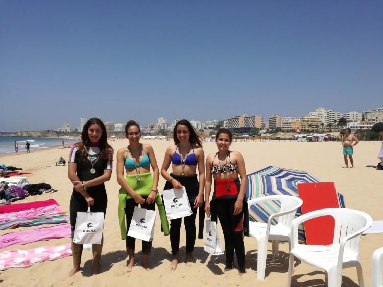 Finalistas Feminino, Encontro 'Espumas' do Algarve de Surf & Bodyboard do Desporto Escolar 2016/2017 (®DR)