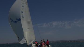 'Tomate' em plena ação na 3ª regata do Troféu Ria Formosa 2017, que venceu, em Olhão (®FatimaRato)