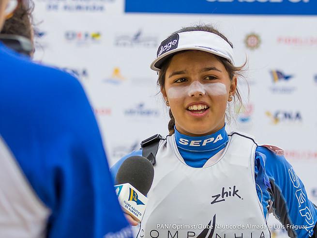 Beatriz Gago, Tricampeã de Portugal Juvenis Feminino também vai estar no Mundial de Optimist por Portugal pelo segundo ano consecutivo (®LuisFraguas/CNA)