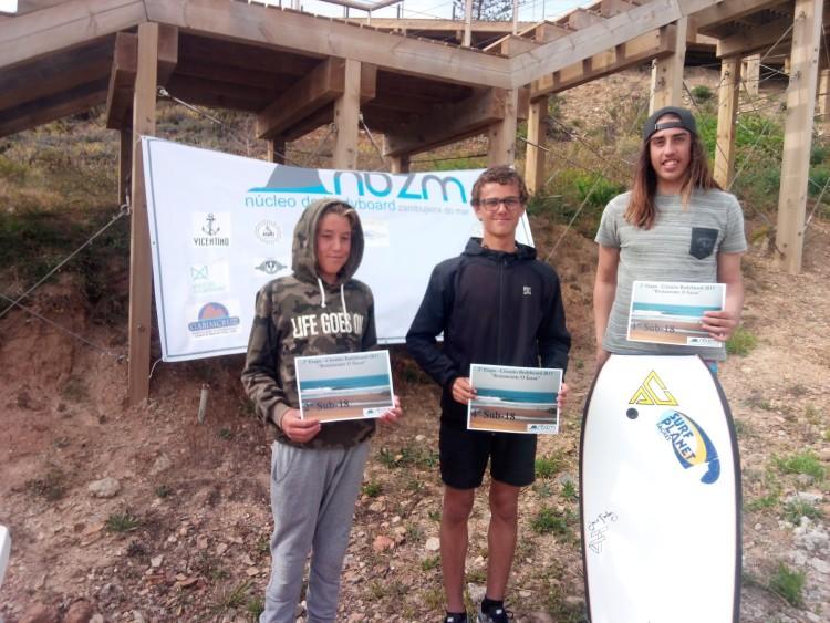 Pódio Sub-18 incompleto. Vencedor, Tomás Rosado, à direita (®NBZM)