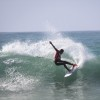 Vasco Ribeiro, que vem de um 5º lugar num QS 10.000 foi o melhor surfista no primeiro dia em Sintra (®ANS)