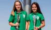 Luana Lopes e Sara Melo, vice-campeãs nacionais de canoagem em K2 Iniciado Feminino (®DR)