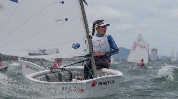 Algarvia Beatriz Gago fez 4º lugar feminino, 43º geral no Mundial Optimist 2017. Foi o melhor resultado português na prova (®MatiasCapizzano)