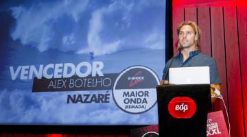 Algarvio Alex Botelho foi o grande vencedor da 2ª edição dos Prémios XXL EDP Mar Sem Fim. Processo de seleção para a 3ª edição 'está on' (®DR)
