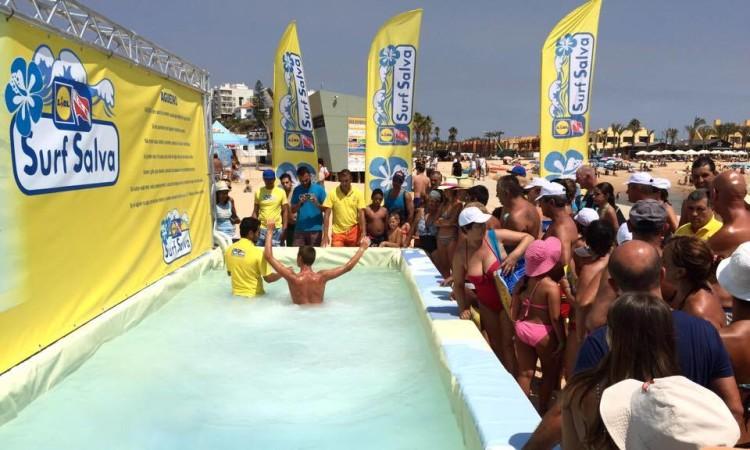 Simulador fez estreia algarvia na Praia da Rocha, em Portimão (®PauloMarcelino)