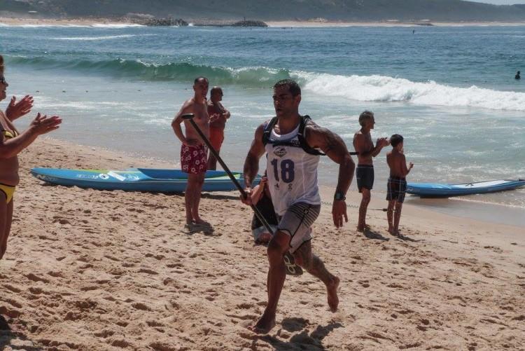 Tiago Dinis fez 3º lugar, 1º federado na Nazaré e assumiu a liderança nacional SUP Maratona 14' a uma prova do final do circuito (®CDANazare)