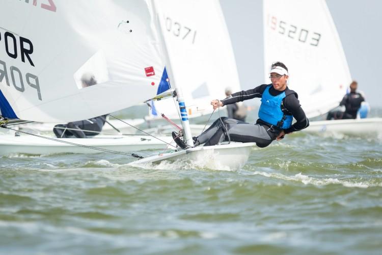 Algarvio André Granadeiro em ação na Holanda, onde disputou dois Mundiais e ganhou motivação para se empenhar na Classe Laser Radial (®DR)