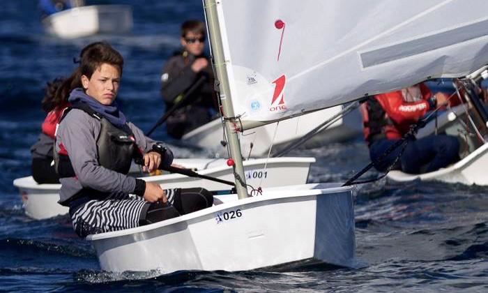 Algarvio William Risselin durante uma das regatas em Vigo, onde terminou o Meeting Internacional em 2º numa classificação geral com 244 atletas inscritos (®LuisFraguas/CVVC)
