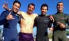 Gonçalo Pinheiro, à esquerda, com os finalistas Open em Peniche. O algarvio ao lado dos melhores de Portugal, um lugar onde as expetativas há muito o colocam (®VertMagazine)