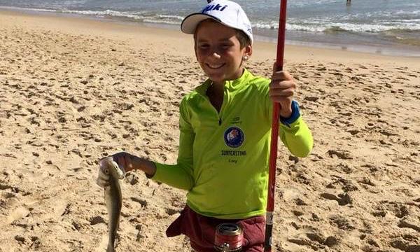 Lourenço Martins, Campeão Regional Juvenis de Pesca Desportiva Surfcasting. Tem 10 anos de idade (®CNPTM)