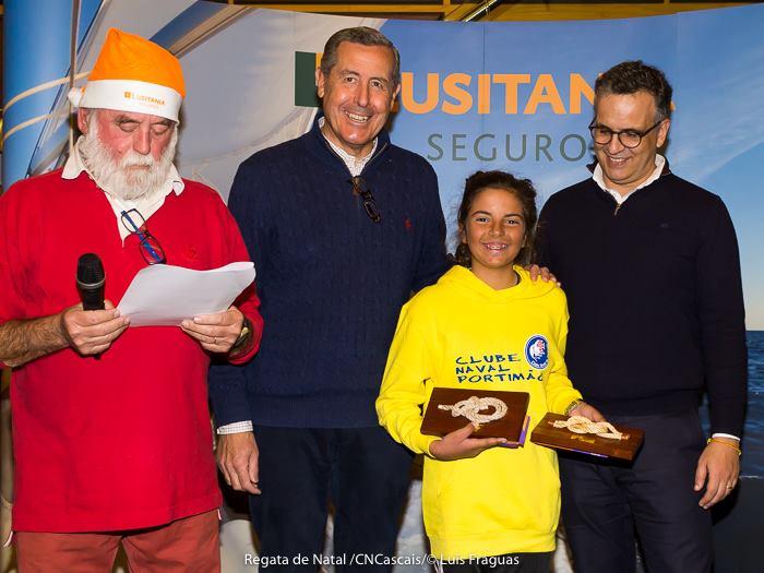 Beatriz Cintra, 1º lugar geral, 1º Feminino na Regata de Natal em Cascais, 2ª etapa do Optimist Challenge (®LuisFraguas/CNC)