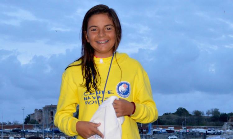 Beatriz Cintra lidera o 'ranking' Sub-16 Feminino e é 6ª na geral da Optimist Excellence Cup 2017-2018 após três provas (®PauloMarcelino/arquivo)